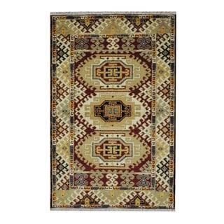 Handmade One-of-a-Kind Kazak Wool Rug (India) - 3'3 x 4'11