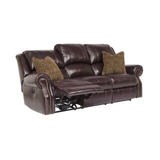SB Signature Design by Ashley Walworth Blackcherry Reclining Sofa
