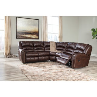 Signature Designs by Ashley Manzanola Chocolate Reclining Loveseat Combo