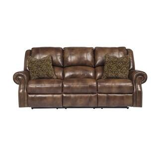 SB Signature Design by Ashley Walworth Auburn Reclining Power Sofa