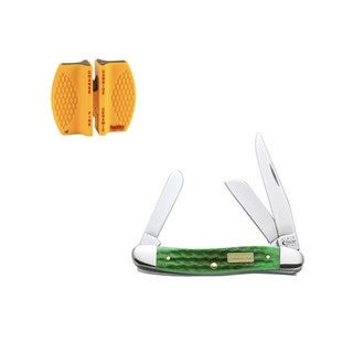 Case Cutlery John Deere Medium Stockman Knife with Sharpener