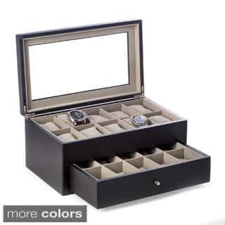 Bey Berk 'Vincent' Solid Wood 20 Watch Box|https://ak1.ostkcdn.com/images/products/10066617/P17211135.jpg?impolicy=medium
