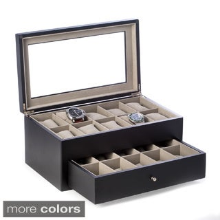 Bey Berk 'Vincent' Solid Wood 20 Watch Box (2 options available)