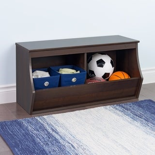 Stackable 2-Bin Storage Cubby