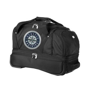 Denco Sports Luggage MLB Seattle Mariners 22-inch Carry On Drop Bottom Rolling Duffel