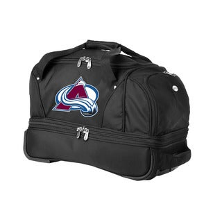 Denco Sports Luggage NHL Colorado Avalanche 22-inch Carry On Drop Bottom Rolling Duffel