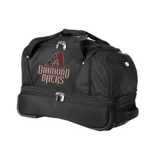 Denco Sports Luggage MLB Arizona Diamondbacks 22-inch Carry On Drop Bottom Rolling Duffel