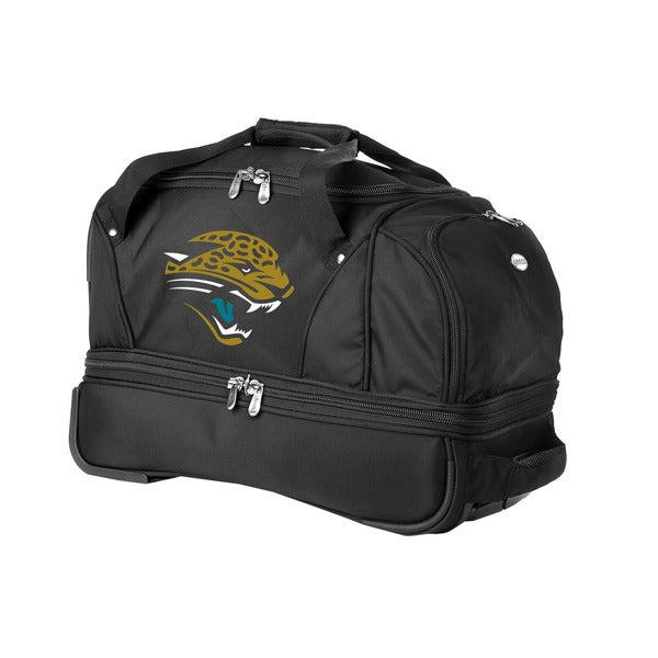 Denco Sports Luggage NFL Jacksonville Jaguars 22-inch Carry On Drop Bottom Rolling Duffel