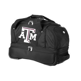 Denco Sports Luggage NCAA Texas A&M 22-inch Carry On Drop Bottom Rolling Duffel