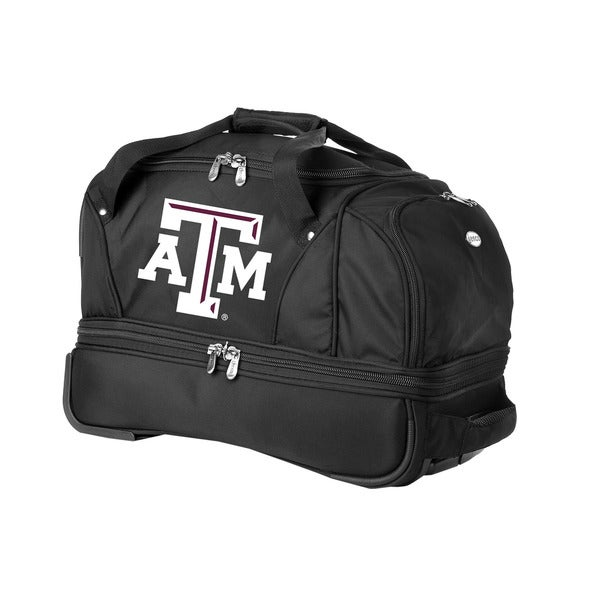 Denco Sports Luggage NCAA Texas A&M 22-inch Carry On Drop Bottom Rolling Duffel
