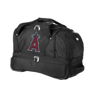 Denco Sports Luggage MLB Anaheim Angels 22-inch Carry On Drop Bottom Rolling Duffel