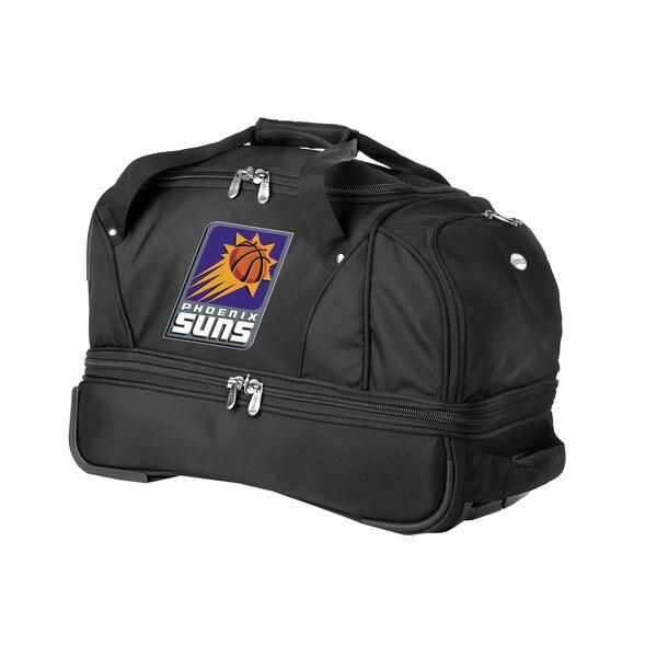 Denco Sports Luggage NBA Phoenix Suns 22-inch Carry On Drop Bottom Rolling Duffel