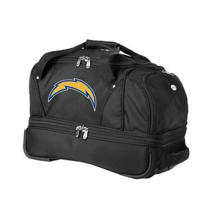 Denco Sports Luggage NFL San Diego Chargers 22-inch Carry On Drop Bottom Rolling Duffel