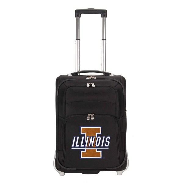 Denco Sports Luggage NCAA U Of Illinois Fighting Illini 21-inch Carry On Upright Suitcase