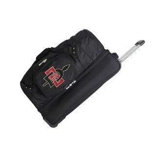 Denco Sports Luggage NCAA San Diego State Aztecs 27-inch Drop Bottom Rolling Duffel