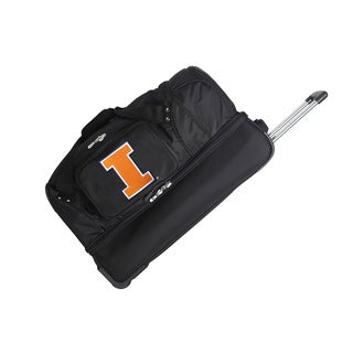 Denco Sports Luggage NCAA Illinois Fighting Illini 27-inch Drop Bottom Rolling Duffel