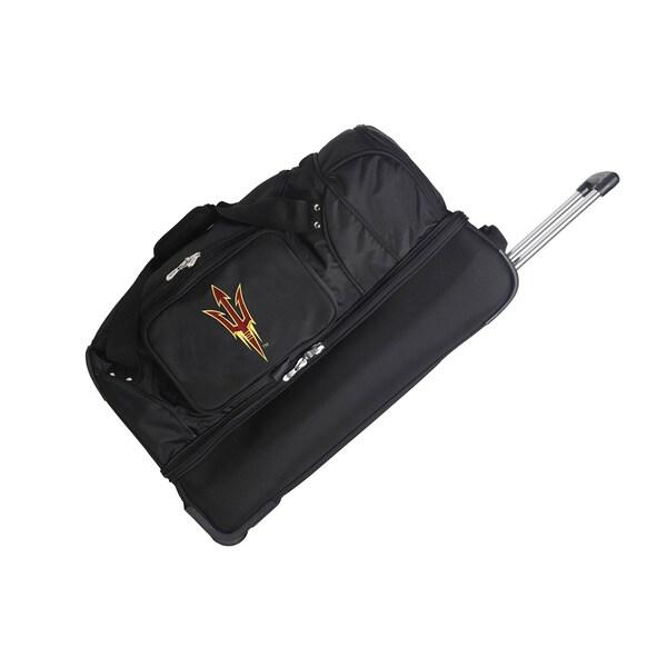 Denco Sports Luggage NCAA Arizona State Sun Devils 27-inch Drop Bottom Rolling Duffel