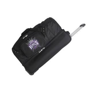 Denco Sports Luggage NBA Sacramento Kings 27-inch Drop Bottom Rolling Duffel