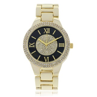 Rhinestone Roman Numeral Accent Link Watch