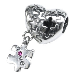 Queenberry Love Puzzle Piece European Bead Charm