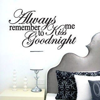 Kiss Me Goodnight Wall Decal (22-inch x 13-inch)