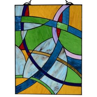 Warehouse of Tiffany Abstract 24-inch Window Panel