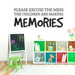 Children Making Memories Wall Decal (48-inch x 18-inch)