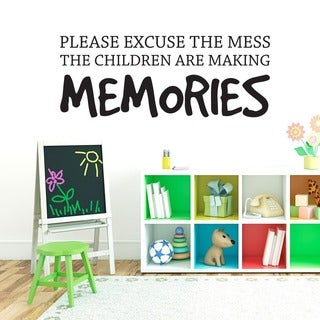 Children Making Memories Wall Decal (36-inch x 14-inch)