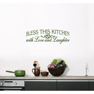 Bless This Kitchen Wall Decal (36-inch x 12-inch)