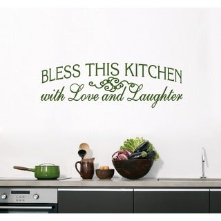 Bless This Kitchen Wall Decal (50-inch x 16-inch)