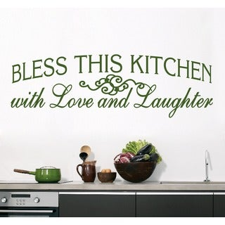 Bless This Kitchen Wall Decal (70-inch x 22-inch)