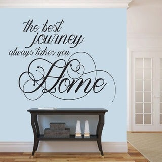 The Best Journey Wall Decal (48-inch x 37-inch)