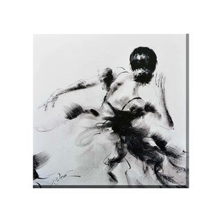 Porthos Home Mystery Woman Black and White Canvas Print Wall Art