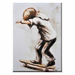 Porthos Home Skater Boy Canvas Print Wall Art