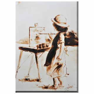 Porthos Home Little Girl Painting Canvas Print Wall Art