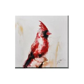 Porthos Home Red Bird Canvas Print Wall Art
