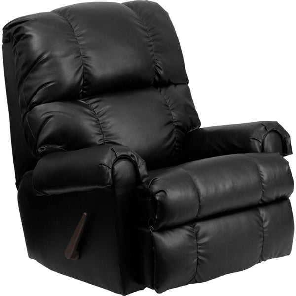 Cheap Recliner Sofas For Sale Black Leather Reclining: Shop Flash Furniture Bonded Leather Black Reclining Chair