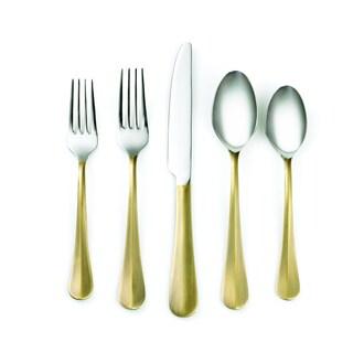 Cambridge Silversmiths Indira Devi Brass 20-piece Flatware Set