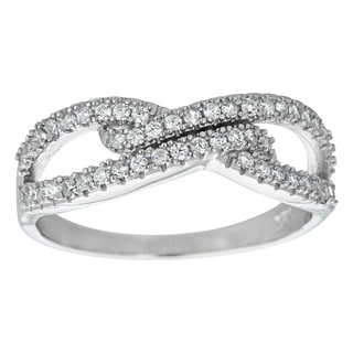 Decadence Sterling Silver Micropave Fancy Ring with Cubic Zirconia