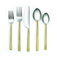 Cambridge Silversmiths Indira Priya Brass 20-piece Flatware Set