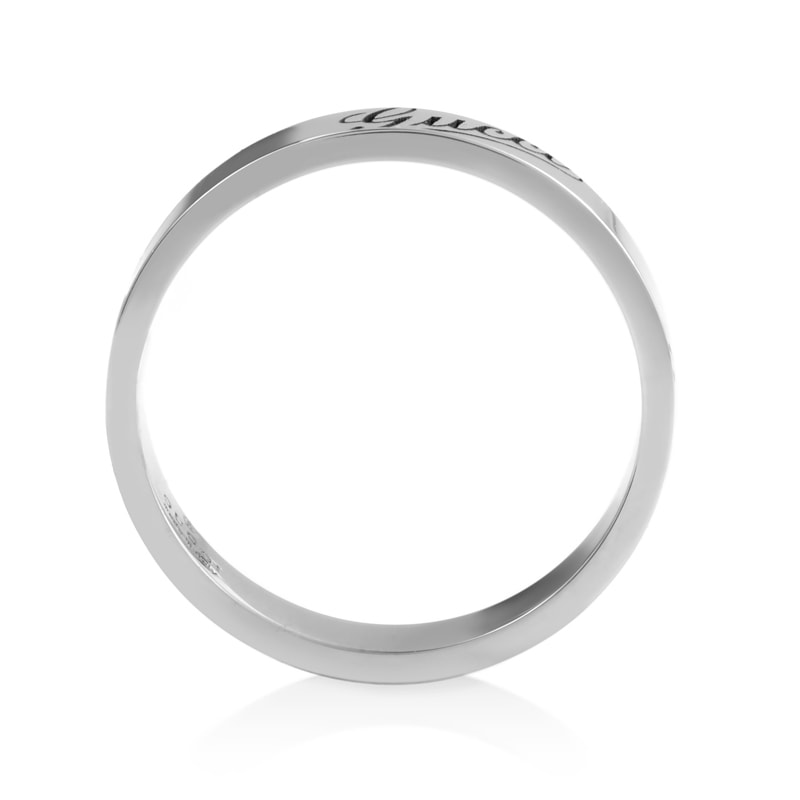 f52f06a01 Shop Gucci 18k White Gold Thin Signature Ring - Free Shipping Today -  Overstock - 10067186