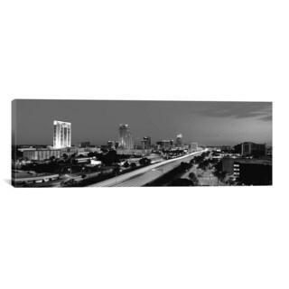 iCanvas Orlando Panoramic Skyline Cityscape (Black & White - Night) Canvas Print Wall Art