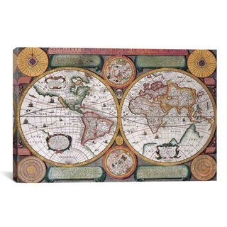 "iCanvas ""Antique Map Canvas Print Wall Art"