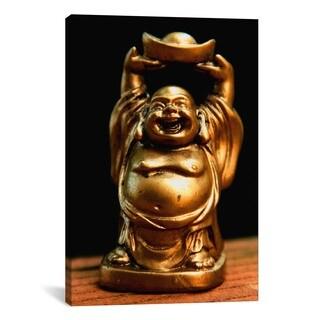 iCanvas Golden Buddha Statue Photographic Art Print #7219 Canvas Print Wall Art