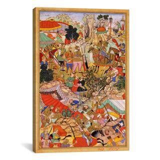 iCanvas Tayang Khan Presented with Head of Mongol Leader Ong Khan Canvas Print Wall Art