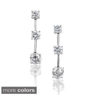 SummerRose 14k Gold 2 ct TDW Graduated Diamond Dangle Earrings