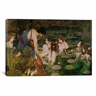 iCanvas Masters Collection Hylas & The Nymphs Canvas Print Wall Art