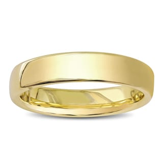 Miadora 14k Yellow Gold Euro Comfort Fit Wedding Band