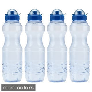 H8O 34-ounce BPA-Free Sports Water Bottle (4-pack)