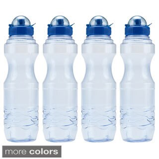 H8O 34-ounce BPA-Free Sports Water Bottle (4-pack) (3 options available)